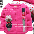 Free shipping Retail 2014 spring autumn kids clothes coat baby cardigan sweater baby girl Outerwear children's knitted sweater