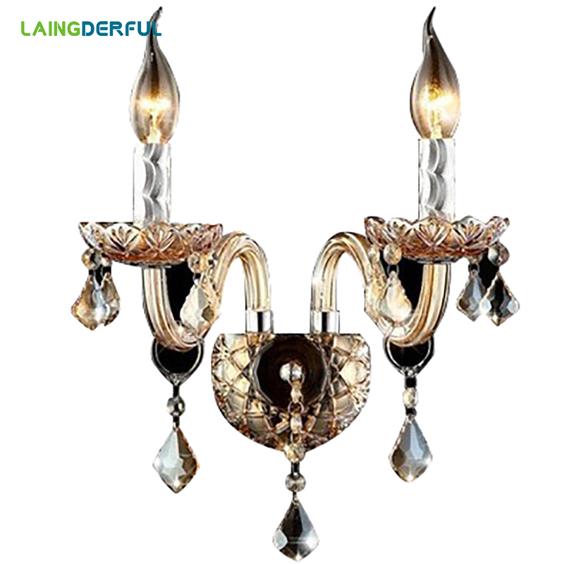 LAINGDERFUL Europe Wall Lamps Crystal LED Broken Diamond Lampshade Decorate Wall Lamp For Foyer Bedroom Lighting Decoration цена 2017