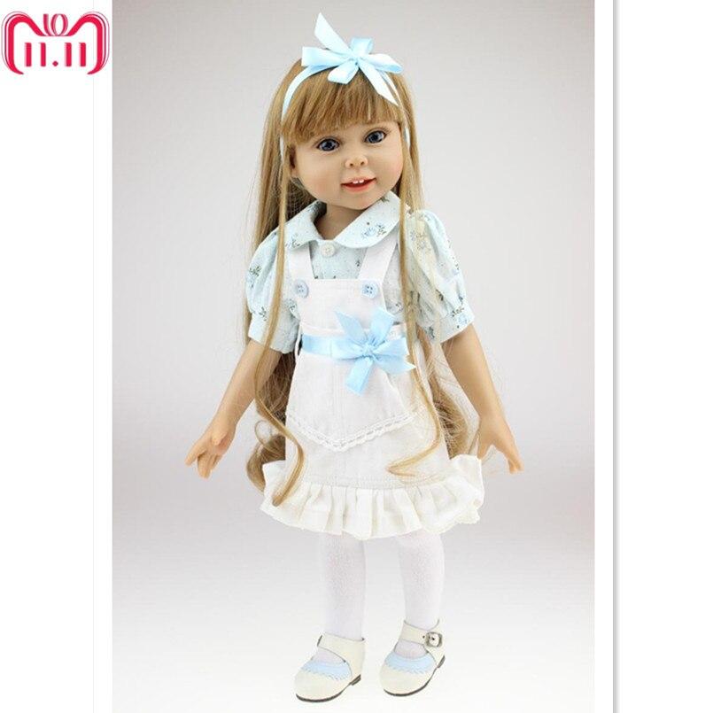 18 дюйм(ов) ов) американская кукла для девочек принцесса кукла с одеждой, пластик для маленьких девочек кукла игрушка игрушки детей подарок н...