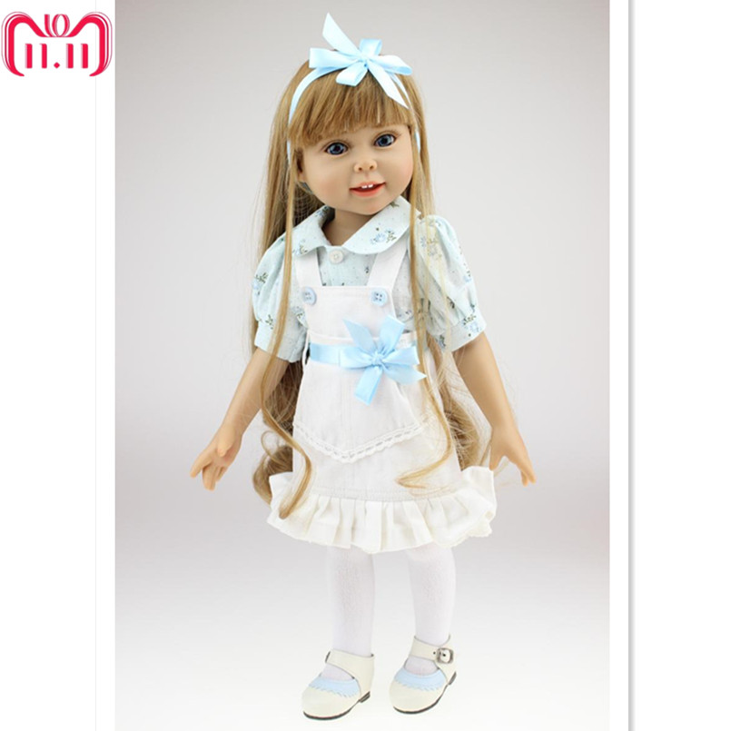 18 Inches American Girl Doll Princess Doll with Clothes,Plastic Baby Girls Doll Plaything Toys for Children Birthday Toy Gift [mmmaww] christmas costume clothes for 18 45cm american girl doll santa sets with hat for alexander doll baby girl gift toy