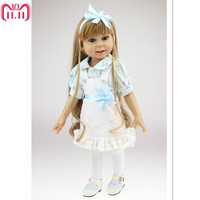 18 Inches American Girls Doll Princess Doll with Clothes,Plastic Baby Girls Doll Plaything Toys for Children Birthday Toy Gift