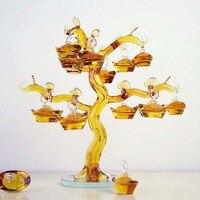 1 шт. фэн шуй ремесла китайский желтый кристалл Стекло золото Слитки дерево пресс папье украшения для дома на удачу Семья мода подарок