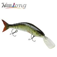 MMlong Professional Fishing Lure 7 Segment Artificial 6 Hook Swimbait Crankbait With Slow Sink Hard Fishing