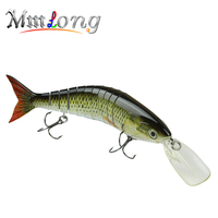 MMlong Professional Fishing Lure 7 Segment Artificial 6 Hook Swimbait Crankbait With Slow Sink Hard Fishing