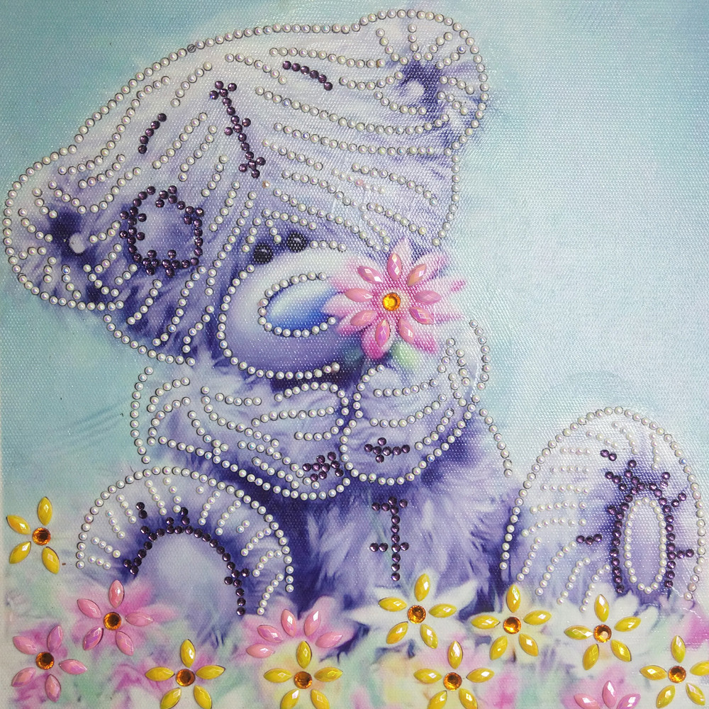 5D DIY Full Diamond Embroidery FLOWER Butterfly Diamond Cross Embroidery Ro G3
