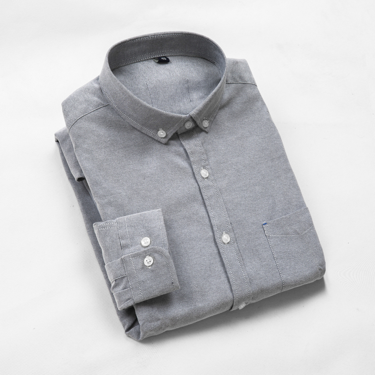 2018 All Seasons Stand Collar Business Casual Cotton Oxford Long Sleeve French Cuff Male Men Work Shirt Slim Plus Size 4XL 8XL in Dress Shirts from Men 39 s Clothing