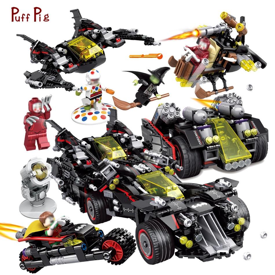 1683 pcs 4 dans 1 Bat Char Voiture Mini Ninjaed Batman Figures Building Blocks Compatible Legoed Technique Vitesse Briques Jouets cadeaux Enfant