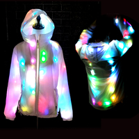 Colorful Led Luminous Costume Clothes Dancing LED Growing Lighting Robot Suits Clothing Men Club Party Supplies Stage Props