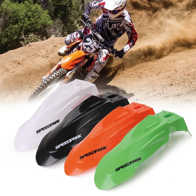 Motocross Plastic Front Name Number Plate+Universal Supermoto Evo Front Fenders Cover For Honda Yamaha Suzuki DRZ KX YZ KTM WR