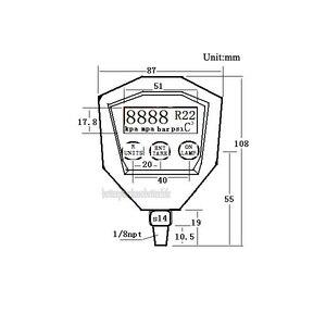Image 5 - R22 R410 R407C R404A R134A climatiseur réfrigération sous vide équipement médical manomètre numérique alimenté par batterie