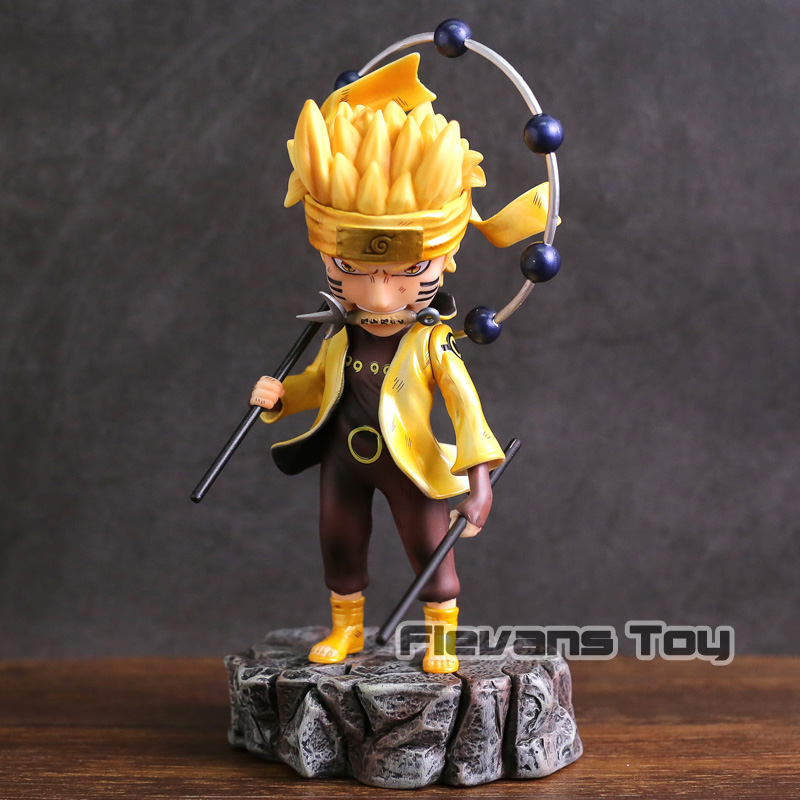 Naruto Shippuden Uzumaki Naruto / Uchiha Sasuke PVC Statue Figure Collectible Model Toy naruto action figures kyuubi resin 230mm collectible model toy anime naruto shippuden uzumaki naruto kyuubi modo