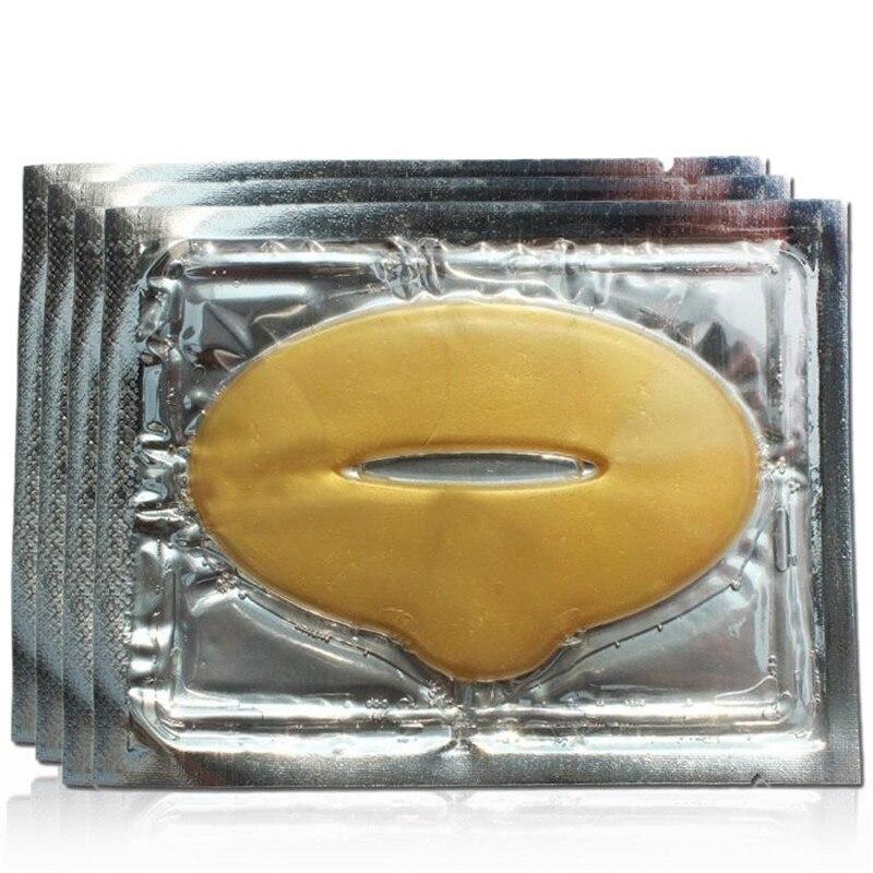 10PCS Plump Lip Gold Powder Crystal Collagen Lip Mask Whitening Moisturizing Essence Lip Care Anti-wrinkle Skin Repair Patch 1