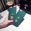 Sibaina Япония Стиль Прохладный Способ Мило 3D Кактус В Горшке Case Cover For iPhone 5 5S se 6 6 S 6 Плюс iphone 7 7 plus PC твердый переплет Fundas