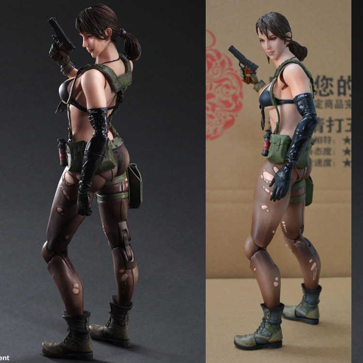 US $61 0  SQUARE ENIX PA Boss Metal Gear Solid 5 The Phantom Pain QUIET  Sniper 26cm PVC Action Figure Model Toys Gifts Figurines-in Action & Toy