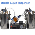 Баррель давления из углеродистой стали с двойным диспенсером для жидкости AB автоматическая разливочная машина 5L нержавеющая сталь баррель...