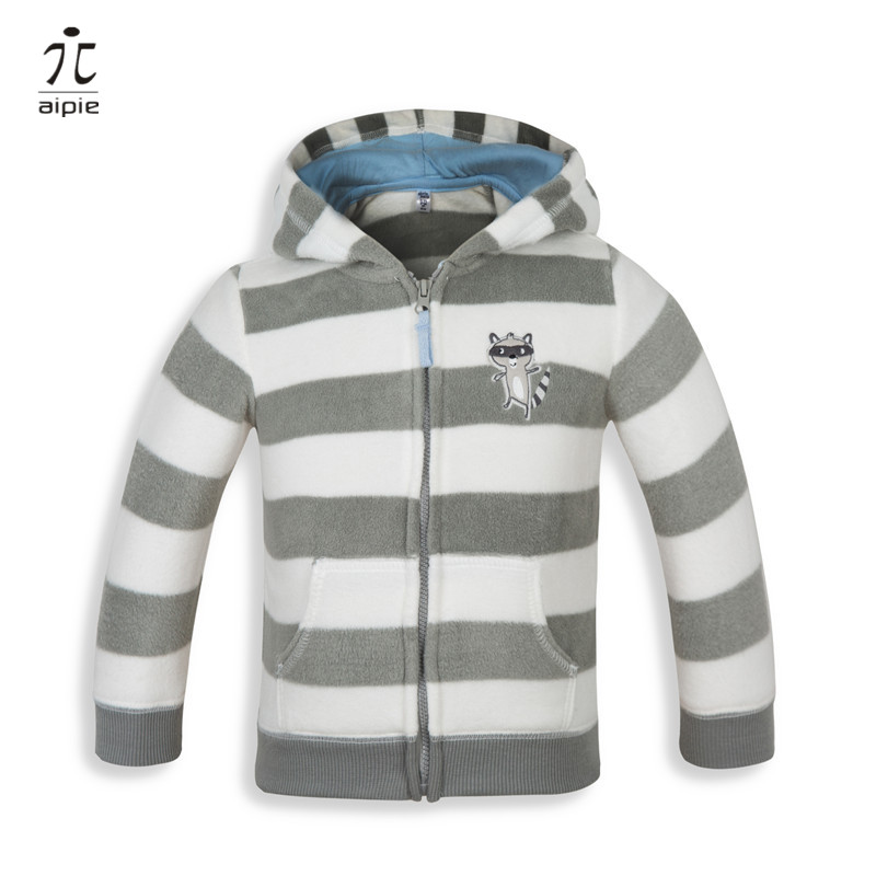 aipie 1pcs Hot Sale High quality Brand Baby's European Style Flannel Hooded Jackets clothing