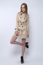 2016 Real Double Breasted Full Long Solid Polyester Manteau Coats Abrigos Mujer The New Spring And Slim Temperament Coat Jacket