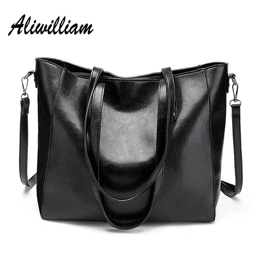 Aliwilliam New Ladies Handbags Brand Women Shoulder Bags Large Capacity Female Tote Bag High Quality Oil
