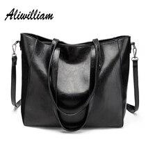Aliwilliam Neue Damen Handtaschen Marke Frauen Umhängetaschen Große Kapazität Weibliche Einkaufstasche Hohe Qualität Öl Wachs Leder Eimer Taschen