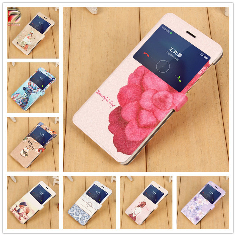 Honor X Case Cute Landscape Magnetic PU Leather Flip Cover Case For