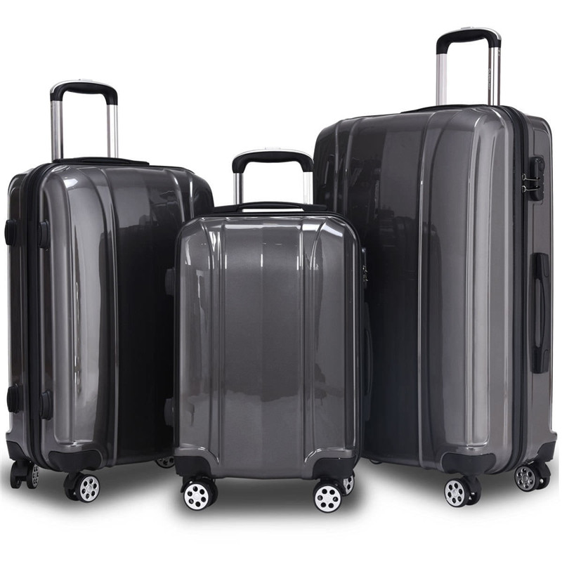 3 Piece Set 100% ABS  Luggage Set Traveling Luggage Bags With Wheels Free Shipping Women Men Business Travel Suitcase Maletas