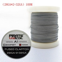 PIRATE COIL 100 m / roll A1 Electronic Cigarette Heating Wire RDA DIY Accessory Resistance Wire Fused Clapton