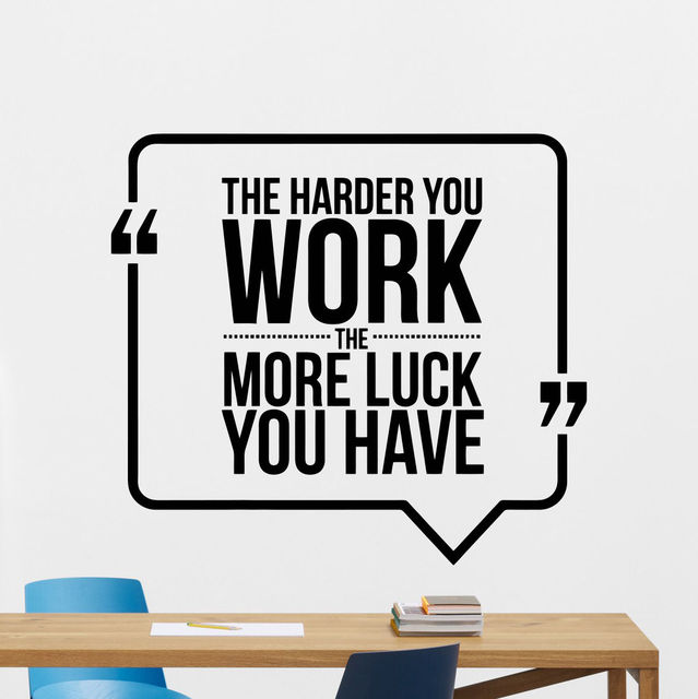 Modern home decoration quote wall decal work business motivation office vinyl sticker art decor muursticker tekst