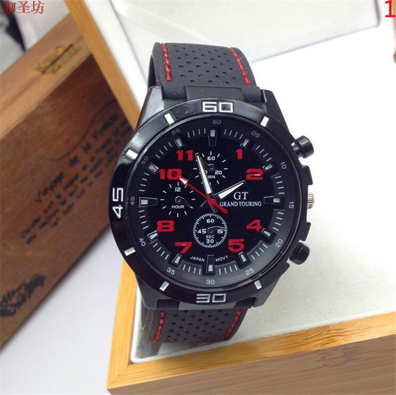 Black Sports Silicone Strap Men Quartz Watch Relogio Masculino Reloj Hombre Erkek Kol Saati Montre Homme Horloges Mannen Uhr B38 orkina montres 2016 new clock men quarz watch uhr uhr cool horloges mannen gift box wrist watches for men