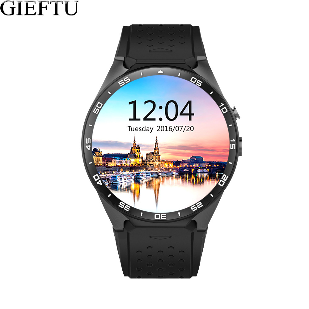 GIEFTU KW88 GSM Sim Card Smart Watch Phone Android 5.1 MTK6580 ROM 4GB+RAM 512MB with 2.0MP Camera Smartwatch for Mobile Phones 你好 法语4 学生用书 配cd rom光盘