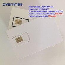 Oyeittimes 4G программируемая пустая sim-карта GSM WCDMA LTE sim-карта 2FF/3FF/4FF с COS ICCID IMSI KI OPC(OP) sim-карта для оператора