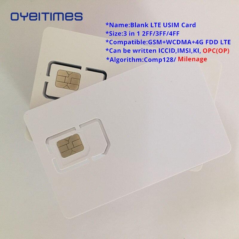OYEITIMES 4G Programable Blank SIM Card GSM WCDMA LTE SIM Card 2FF/3FF/4FF With COS ICCID IMSI KI OPC(OP) SIM Card For Operator