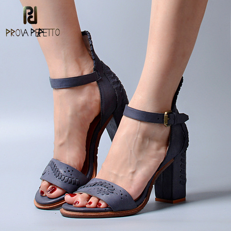 Prova Perfetto 2018 Summer New Style Korea Style Sandals Natural Leather Open Toe Fashion Shoes Sexy All-match Look Thin SandalsProva Perfetto 2018 Summer New Style Korea Style Sandals Natural Leather Open Toe Fashion Shoes Sexy All-match Look Thin Sandals