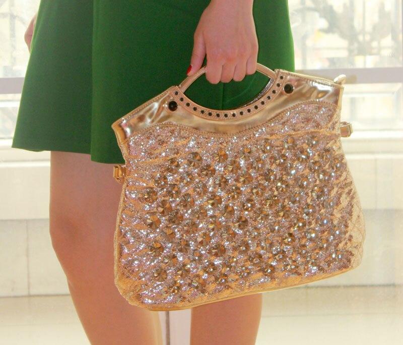 2019 diamantes moda feminina bolsa de ombro