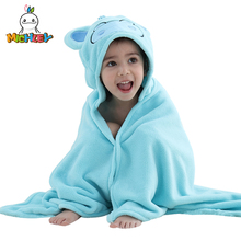 MICHLEY Baby Girls Bathrobe 2019 Cute Shawl Cartoon Animal 0-6 Boys Colorful Hooded Cotton Pajamas Childrens Towel WEG