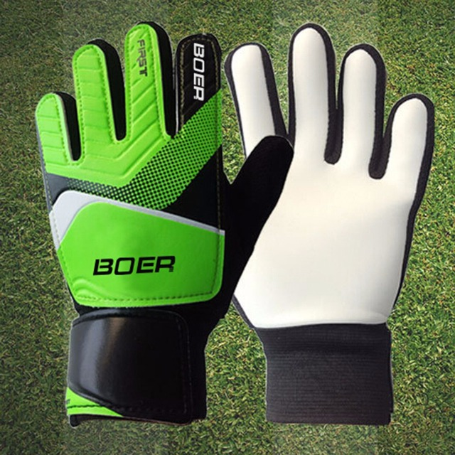 Nivel de entrada los niños portero guantes de goma antideslizante de fútbol  niños guante puerta guantes 404023e067ee8