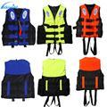 Universal ao ar livre natação barco de esqui à deriva colete sobrevivência terno poliéster colete salva-vidas para crianças adultas com apito S-XXXL