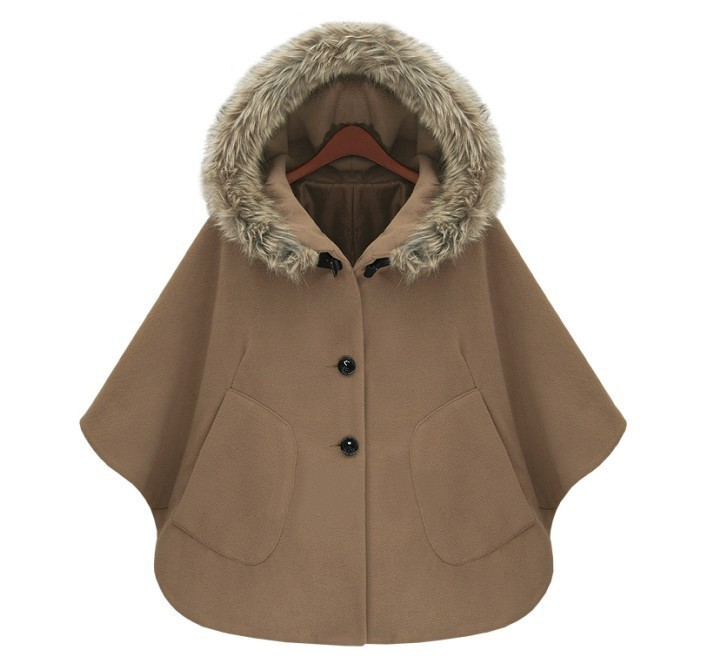 H Women/'s Cashmere Cape Wool Scarf Coat Jacket batwing Sleeve Cloak