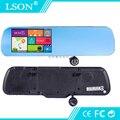 1080 P HD DVR Автомобиля 5 Дюймов с Двумя Объективами Автомобильный GPS Навигации сенсорный Экран Зеркало Заднего Вида Камеры Android с Bluetooth и Google Play