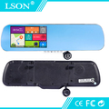 1080P HD Car DVR 5 Inch Dual Lens GPS Car Navigation Touch Screen Rearview Mirror Android Camera with Bluetooth and Google Play