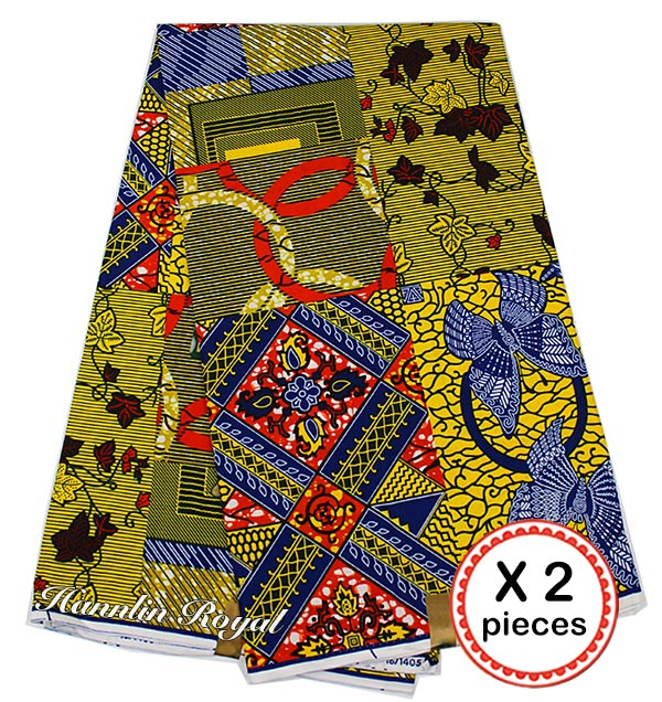 12 yards super wax hollandais African hollandais real dutch wax veritable wax for patchwork sewing free shipping by DHL