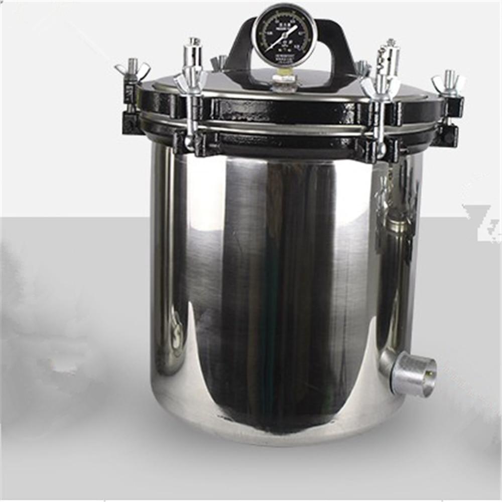 High Quality 18L High-Pressure Medical Steam Sterilization Pot Steam Autoclave Sterilizer Dental with Steam Valve Lab Supplies цена