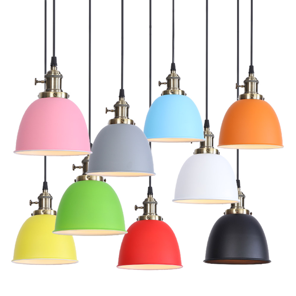 Indoor vintage pentand lamp 220V LED bulb color iron Cafe American country living room aisle corridor Creative decoration Spot