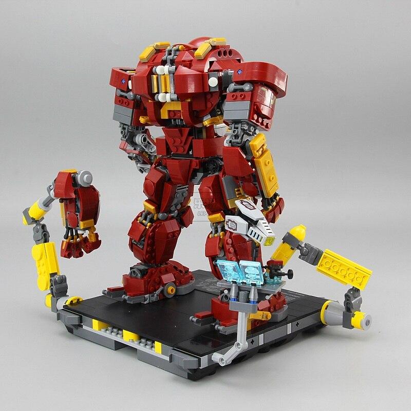 07101 1527 قطعة سوبر بطل حقيقي متوافق مع 76105 الحديد رجل مكافحة الهيكل الميكانيكية لعبة قوالب بناء كتل نموذج لصبي-في حواجز من الألعاب والهوايات على  مجموعة 1