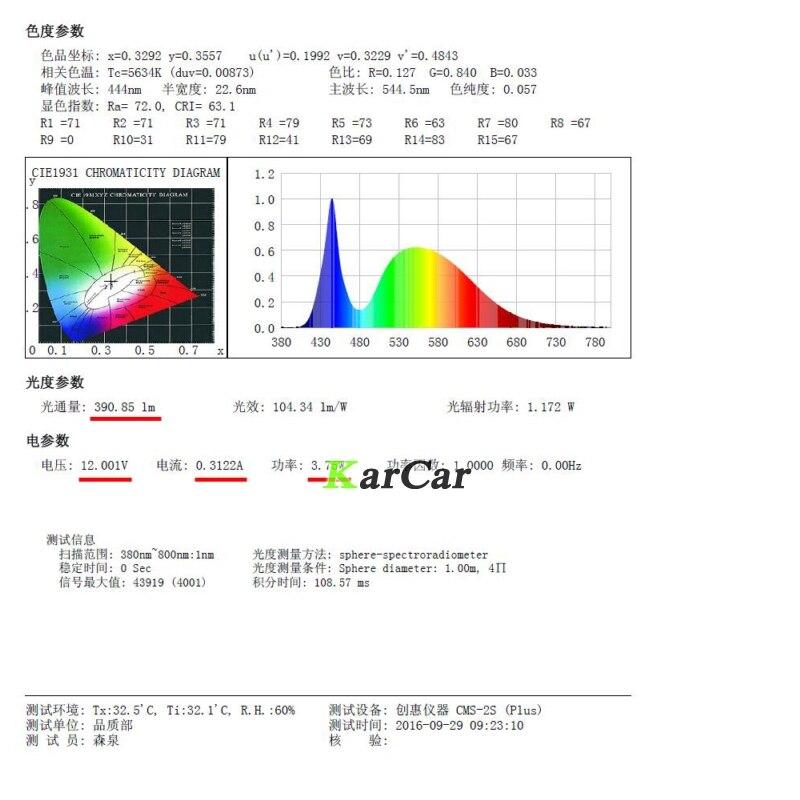 2PCS / Çox Yeni 40W CREE Chip XBD 390LM H3 LED Duman ampüller 12V - Avtomobil işıqları - Fotoqrafiya 6