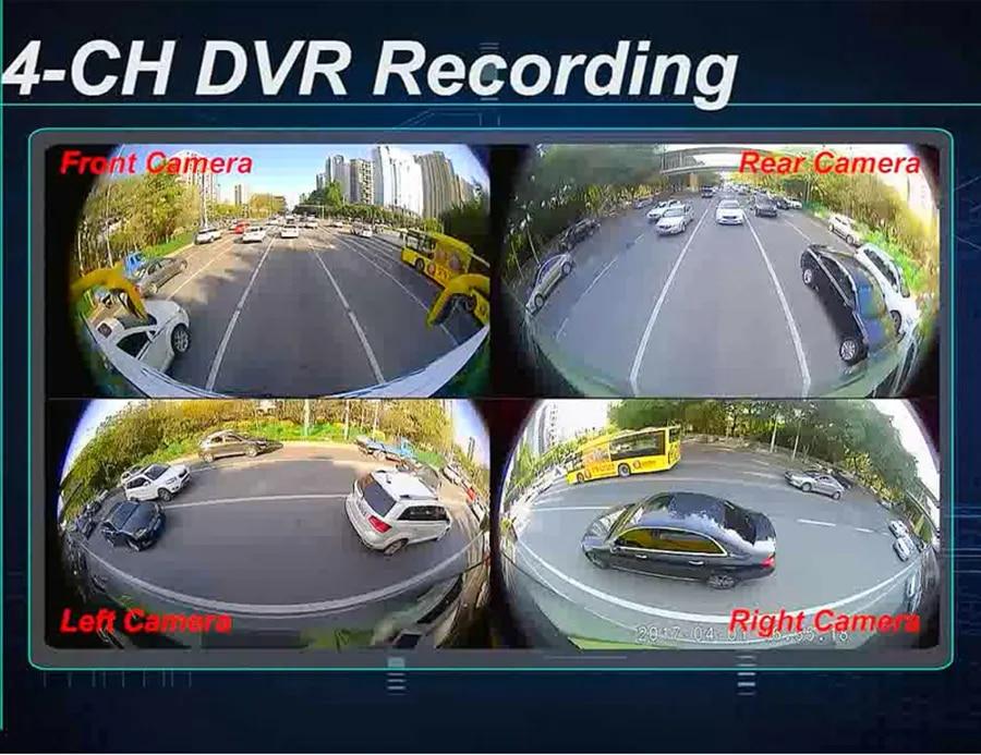 Asvegen новейшая система наблюдения за областью автомобиля, 360 градусов, для вождения, 2D HD, для наблюдения за объемным видом, помощник, система камер, 4-канальный видеорегистратор