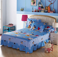 Girl's bed decoration cotton bed skirt cotton lace bedspread Fitted sheet