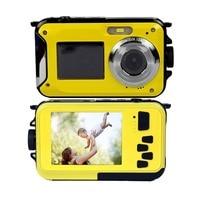 4Pcs/Lot, DHL Free 1.8+2.7 Dual Screen 24MP 10M Waterproof Digital Camera Photo Camera 1080P Full HD Video Camera Li Battery