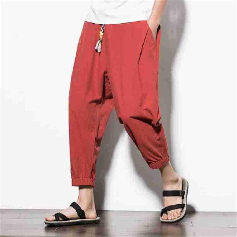 Mode tendance Harem pantalon lâche confortable sauvage étudiant pantalon Super beau pantalon grande taille 4XL 5XL
