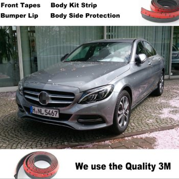 For Mercedes Benz C C63 MB W202 W203 W204 W205 Bumper Lip Deflector Lips / Front Spoiler Skirt Car Tuning View / Body Kit Strip image
