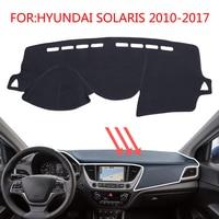 Smabee Dash Mat For HYUNDAI SOLARIS 2 2010 2017 Dashmat Black Carpet Cover Sunscreen Insulation